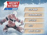 Hockey Nations 2010 Android Main menu