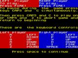 Exterminator ZX Spectrum Game controls for one or 2 players