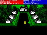 Exterminator ZX Spectrum Here the van has arrived in the infected street and I'm going into the house on the bottom right. The object is to clear all rooms in all houses