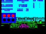 Championship Run ZX Spectrum The game starts here. The car cannot move until all lights are green