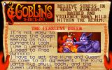 Goblins Quest 3 DOS Newspaper clippings introduce every scene and give objectives.
