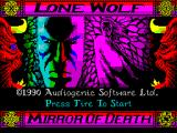 Lone Wolf: The Mirror of Death ZX Spectrum Load screen