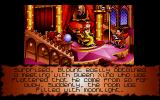 Goblins Quest 3 DOS A cutscene: Blount visits the Queen, but as the moon rises, he transforms into Were-Blount...