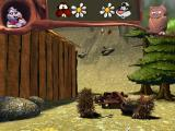 Stinky & Bäver: Skogsspelen Windows The hedgehogs show up all over the game