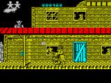 Desperado 2 ZX Spectrum Straight away bad guys appear on the roof, from behind windows, from the right and from the left.