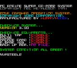 Vasteel 2 TurboGrafx CD Cool screen: the game pretends to be a special program that checks your console...