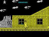 Desperado 2 ZX Spectrum The sneaky guy round the corner has killed me. He's ducked back so my blue bullet will miss him, his white bullet, however, is still in play and kills me