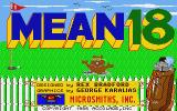 Mean 18 Atari ST Title screen