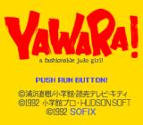 Yawara! TurboGrafx CD Title screen