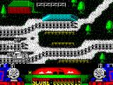 Thomas the Tank Engine & Friends ZX Spectrum I'm on the next screen. Above me in the sidings is an 800 point bonus so I reverse to collect it