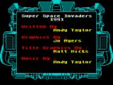 Taito's Super Space Invaders ZX Spectrum The first of two credit screens