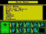 Dragons of Flame ZX Spectrum The in-game menu that is brought up by pressing the SPACE bar