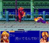 Ane-san TurboGrafx CD Delivering a kick to the boss