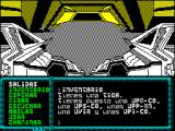 La Aventura Espacial ZX Spectrum The Q/A keys scroll through the menu to the left. This is the current inventory