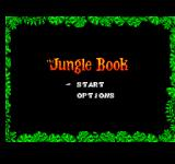 The Jungle Book SEGA Master System Title and main menu