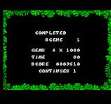 The Jungle Book SEGA Master System Scene completed