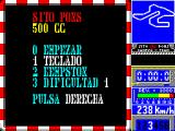 Sito Pons 500cc Grand Prix ZX Spectrum Game controller options