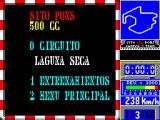Sito Pons 500cc Grand Prix ZX Spectrum Race menu