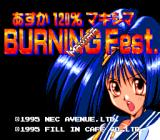 Asuka 120% Maxima: BURNING Fest. TurboGrafx CD Title screen