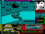Carlos Sainz ZX Spectrum Crash on the first corner! At speed the car is slides over the track very easily. Nice collision graphics - I'll see a lot of these