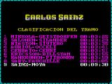 Carlos Sainz ZX Spectrum The game keeps two sets of times : Race times