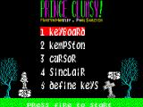 Prince Clumsy ZX Spectrum After a splash screen the game loads to this screen