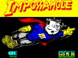 Impossamole ZX Spectrum Splash screen