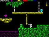 Impossamole ZX Spectrum KLONDIKE level : Made it across the river, I wonder if the little green man is friendly?