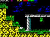 Impossamole ZX Spectrum The AMAZON level starts here. There's a nasty green snake creeping down from the left