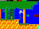 Impossamole ZX Spectrum ORIENT level : Done it! Now I'm in the tree preparing for the next jump