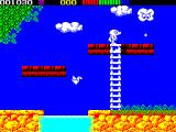 Impossamole ZX Spectrum ORIENT level : Just noticed that the birds are origami models. Nice touch. The cloud shoots rain drops and does come after Monty
