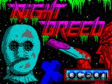 Clive Barker's Nightbreed:  The Action Game ZX Spectrum Load screen