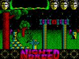 Clive Barker's Nightbreed:  The Action Game ZX Spectrum First encounter. There's lots of this character around. Some have guns, others machine guns and what looks to be flame-throwers