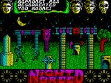 Clive Barker's Nightbreed:  The Action Game ZX Spectrum Boone lost a life to flamethrower man
