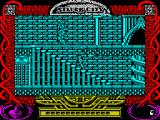 The Neverending Story II: The Arcade Game ZX Spectrum Bastian can run up steps. Both he and the giants can be hared to see against the detailed background
