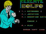 Rescate en el Golfo ZX Spectrum Past copy protection and at the main Game Menu