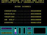 Night Hunter ZX Spectrum The Hi-Score table. After this its back to the start of the game