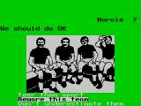 Football Manager: World Cup Edition 1990 ZX Spectrum The team talk - whatever I chose morale seemed to go down