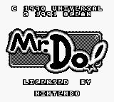 Mr. Do! Game Boy Title Screen