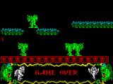 Deliverance: Stormlord II ZX Spectrum Game over. After this its back to the Game Controls menu
