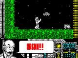 Oberon 69 ZX Spectrum First alien contact and the best advice the big guy can give is Arghh!