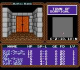 Might and Magic TurboGrafx CD The beginning. Town of Sorpigal