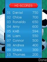 Blockbusters: Football Edition J2ME High score list