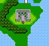 Final Fantasy II NES On the world map