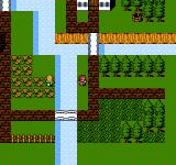 Final Fantasy II NES Exploring a village