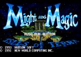 Might and Magic III: Isles of Terra TurboGrafx CD Title screen