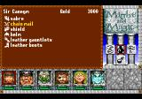 Might and Magic III: Isles of Terra TurboGrafx CD Inventory & equipment screen
