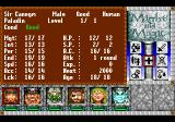 Might and Magic III: Isles of Terra TurboGrafx CD Character information