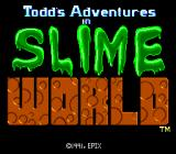 Todd's Adventures in Slime World TurboGrafx CD Title screen