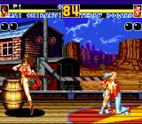 Fatal Fury 2 TurboGrafx CD Mai spins around to deliver a kick... looks good :)